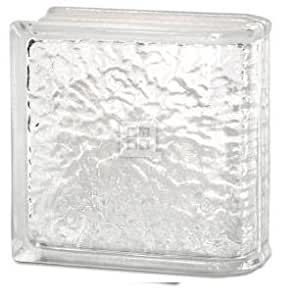 Quality Glass Block 8 x 8 x 4 IceScapes End Block Glass Block