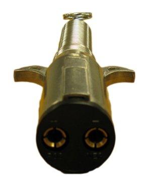 2 Way Trailer End Plug W/ Spring Guard Heavy Duty