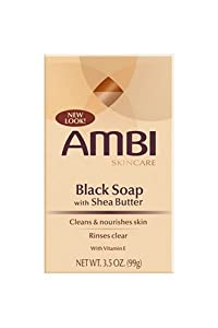 Ambi Skincare Black Soap with Shea Butter, 3.5-Ounce Package