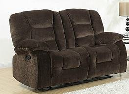 AC Pacific Jackson Brown Reclining Loveseat