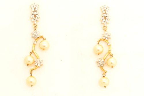 Fashion Balika Fashion Jewelry Gold-Plated Dangle & Drop Earring For Women Gold-BFJER043 (Yellow)