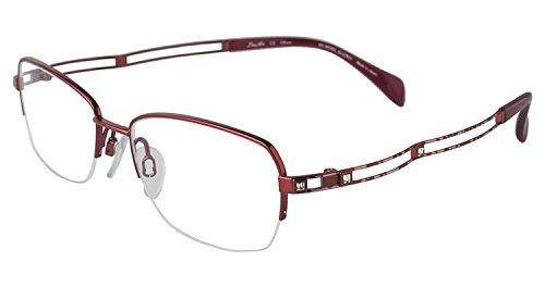 Charmant Line Art Eyeglasses XL2070 XL/2070 RE Red Half Rim Optical Frame 51mm (Charmant Eyeglass Frames compare prices)