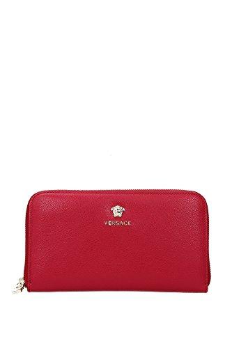 Portafogli Versace Donna Pelle Rosso e Oro DPDE457DVBVTK6QOC Rosso 2x11x20 cm