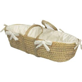 Baby King Moses Basket Color: Ecru front-996196