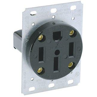 3 Pack Leviton 279 50 Amp 125/250 Volt 4 Wire Flush Mount Range Receptacle, NEMA 14-50R