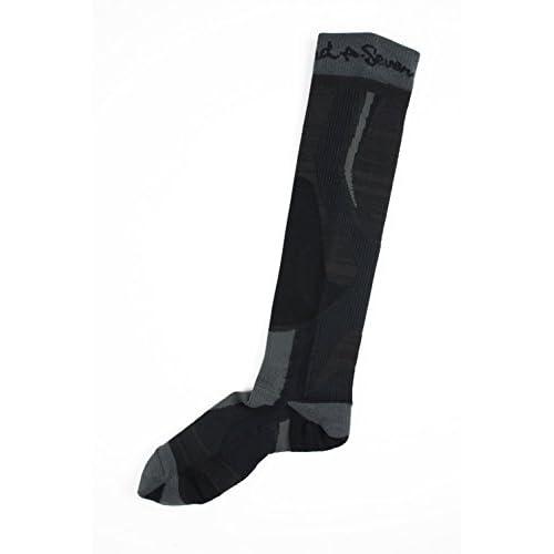 AIR TO GROUND A-SEVEN(エーセブン)スキー スノーボード 靴下「HEAT NAVI 3Dソックスプラス/ソフト」DA7-2S01 (BLKブラック, L(26-28cm))
