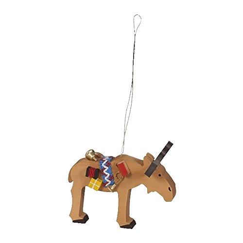 Alexander Taron Richard Glaesser Ornaments – Assorted Reindeer – set of 3 pieces – 2.5″H x 3.5″W x 2.25″D