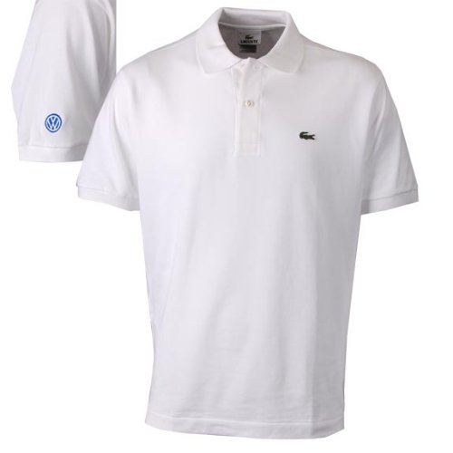 Genuine Volkswagen Men's Lacoste® Polo – White – Size Medium