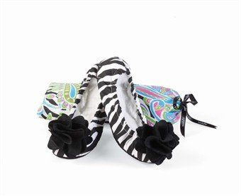 Cheap Black Zebra Ballet Slipper (SMALL fits shoe size 5-6.5) – 660030 (B005QDEWPK)