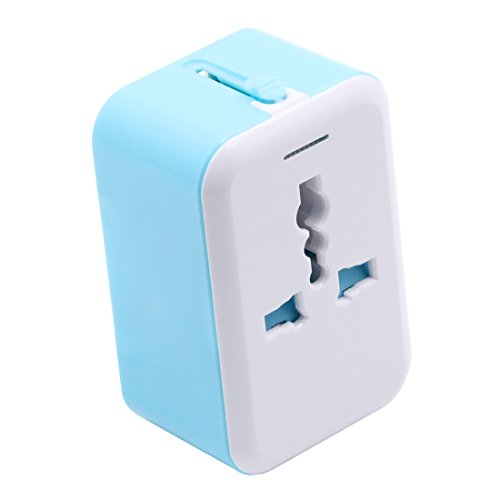 Virocana AC Universal World Travel Adapter Dual Lightning USB