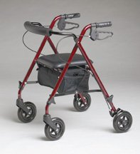 Medline Ultra Lightweight Rollator (Burgundy) MDS86825SLR