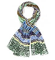 Limited Collection Lightweight Patchwork Striped Scarf