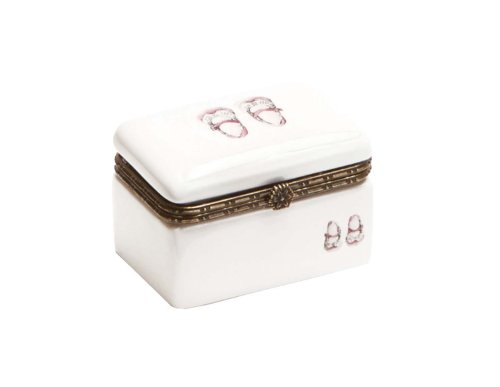 C.R. Gibson Ceramic Trinket Keepsake Box, Baby Oxfords (Discontinued by Manufacturer)