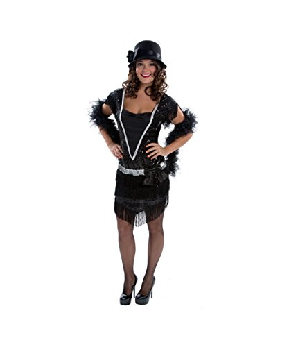 Gatsby 1920s Roaring 20s Flapper Fashionista Womens Halloween Costume