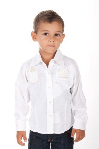 La Martina - Camicia - Classico  - Maniche lunghe  - ragazzo bianco 4 anni