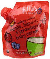 Ella'S Kitchen 2 Baby Cereal - Mango Banana Strawberry + Multigrain - 5.3 Oz