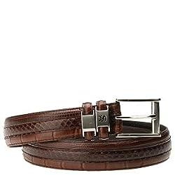 Stacy Adams Men's 6-027 Belts,Cognac,36 US
