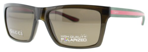 Gucci 1013 53U Brown 1013 Square Aviator Sunglasses Polarised Lens Category 3