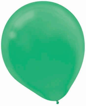 "Amscan Festive Bulk Solid Color Latex Balloons, 12"", Green - 1"