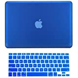 "TopCase 2 in 1 Rubberized Hard Case Cover and Keyboard Cover for Macbook Pro 15"" A1286 (Case NOT for Retina Display) with TopCase Mouse Pad (Macbook Pro 15"" A1286, Royal Blue)"
