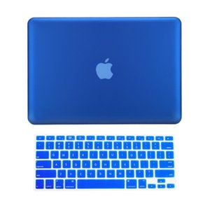 #1  TopCase 2 in 1 Retina 13-Inch ROYAL BLUE Rubberized Hard Case Cover for Apple MacBook Pro 13.3