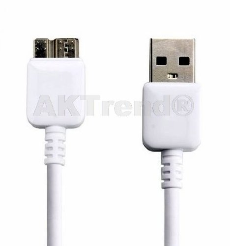 Original AKTrend® Ladekabel Für Samsung Galaxy S5 (SM-G900F / SM-G900H / SM-G900I / SM-G900M / SM-G900T / SM-G900 *) , Samsung Galaxy Note 3 (SM-N9005 / SM-N9006 / SM-N900) , Micro USB 3.0 Kabel , A-Stecker auf Micro-B-Stecker , nur für Geräte geeignet mit micro USB 3.0 Ladeanschluß