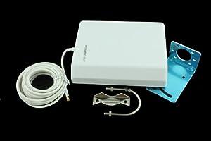 Antenne extérieure WIFI 14dB 2.4GMHz pour extérieur RP-SMA Male 5M Cable 0122