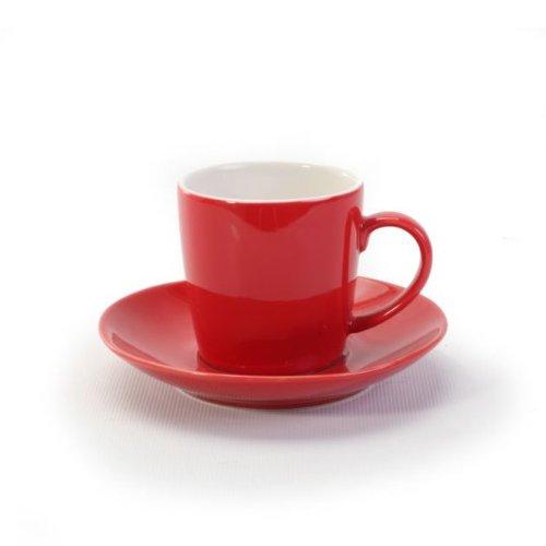 BIA Cordon Bleu 2 Tone Red Espresso Cup and Saucer - Set of 6 (Red Espresso Set compare prices)