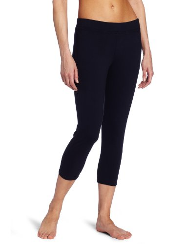 Red Dot Women's Cropped Leggings, Dark Navy, X-Large
