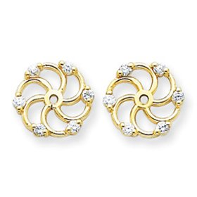.06ct Diamond Earring Jackets 1/4