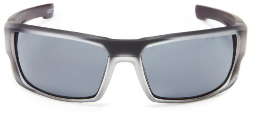 Spy Optic Dirk 672052551129 Wrap Sunglasses,Black Ice Frame/Grey Lens,One Size