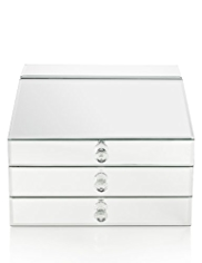 M&S Collection Bureau Mirrored Large Jewellery Box