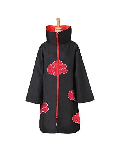 [Afoxsos Unisex Akatsuki Costume Cloak Uniform Shinobi Itachi Cosplay Costume] (Madara Uchiha Halloween Costume)