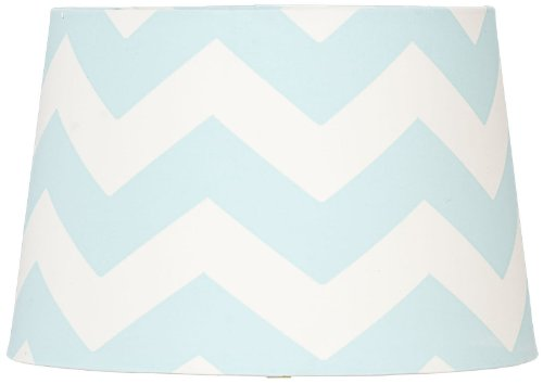 Lolli Living Lamp Shade, Aqua Zig-Zag, Multi