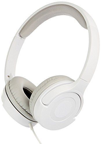 AmazonBasics White On-Ear Headphone