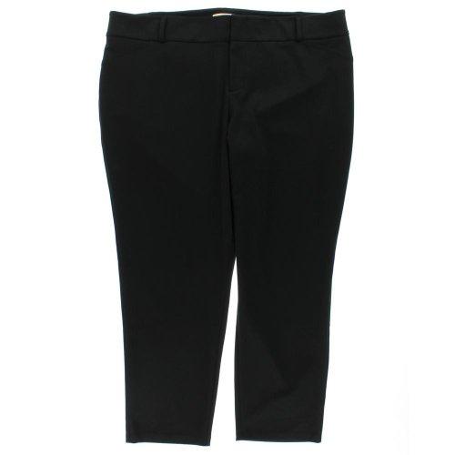 Michael Kors Womens Plus Ponte Stretch Dress Pants Black 22W