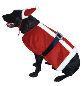 Santa Claus Pet Christmas Costume Size Large