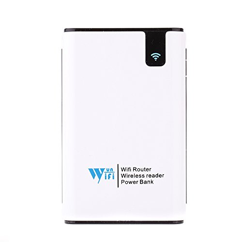 KKMOON 7800mAh portatile Mobile batteria Power Bank Wireless WiFi Card Reader Router ripetitore per iPhone iPad Tablet portatile Android Smart Device