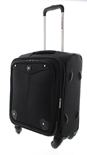 Trolley Swissdesign valigia bagaglio borsa da viaggio nera (M)