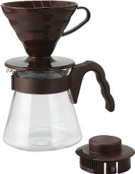 Hario V60 Coffee Dripper and Glass Server Set 700ml 02 Size Brown (V60 Coffee Server Set compare prices)