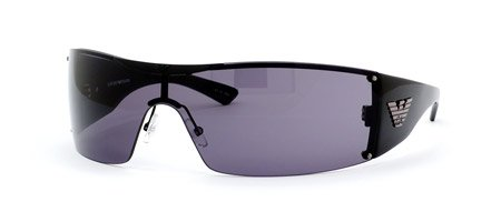 ec07684afbe8 Emporio Armani EA9423 S Sunglasses - 0BKS Shiny Black Black (ON Smoke Lens)  - 99mm Overview