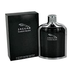 Jaguar Eau de Toilette Spray for Men, Black, 3.4 Ounce