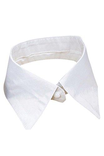 Vococal - Staccabile Sul Lavoro Bavero Camicia Finto Collo Collare Falso per Donne Signora,Bianco