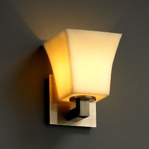 Cream Candle Wall Lights : Justice Design CNDL 8921 28 CREM DBRZ GU24 CandleAria One Light Wall Sconce Glass Options CREM ...