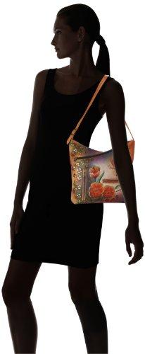 Anuschka 357 Shoulder Bag,Premium Floral Safari,One Size