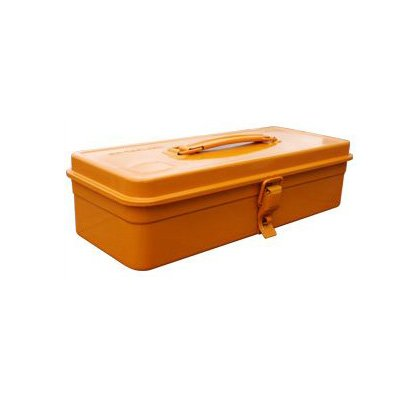 DIYツールストアオリジナル スチール製トランク型工具箱 オレンジ 日本製
