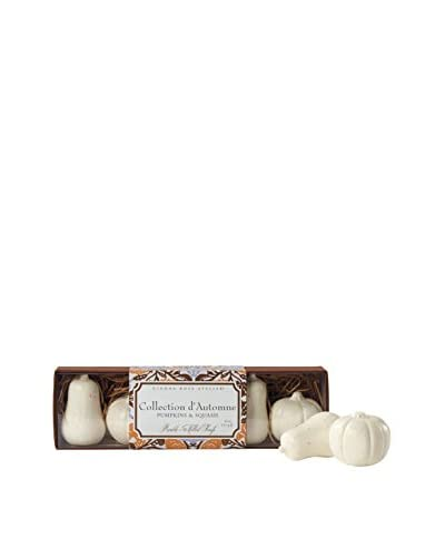 Caswell Massey Set of 5 Pumpkin & Squash Soaps in a Slider Box, Orange/Brown
