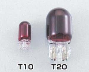 キタコ(KITACO) テールランプ用ウェッジバルブ T20 レッド 12V18/5W (ダブル球) 1個 806-0200200