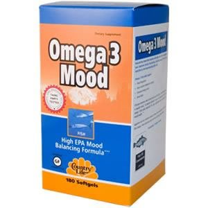 Country Life - Omega 3 Mood - 180 softgels ( Multi-Pack)