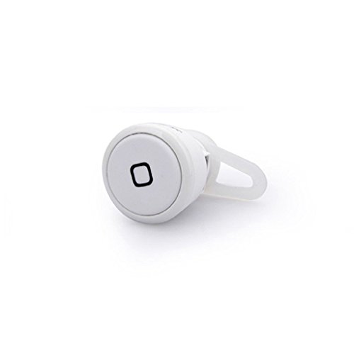 Hot Stereo Mini Bluetooth Headset Music & Call For Samsung Galaxy S4 S5 Note 2 3 (White)